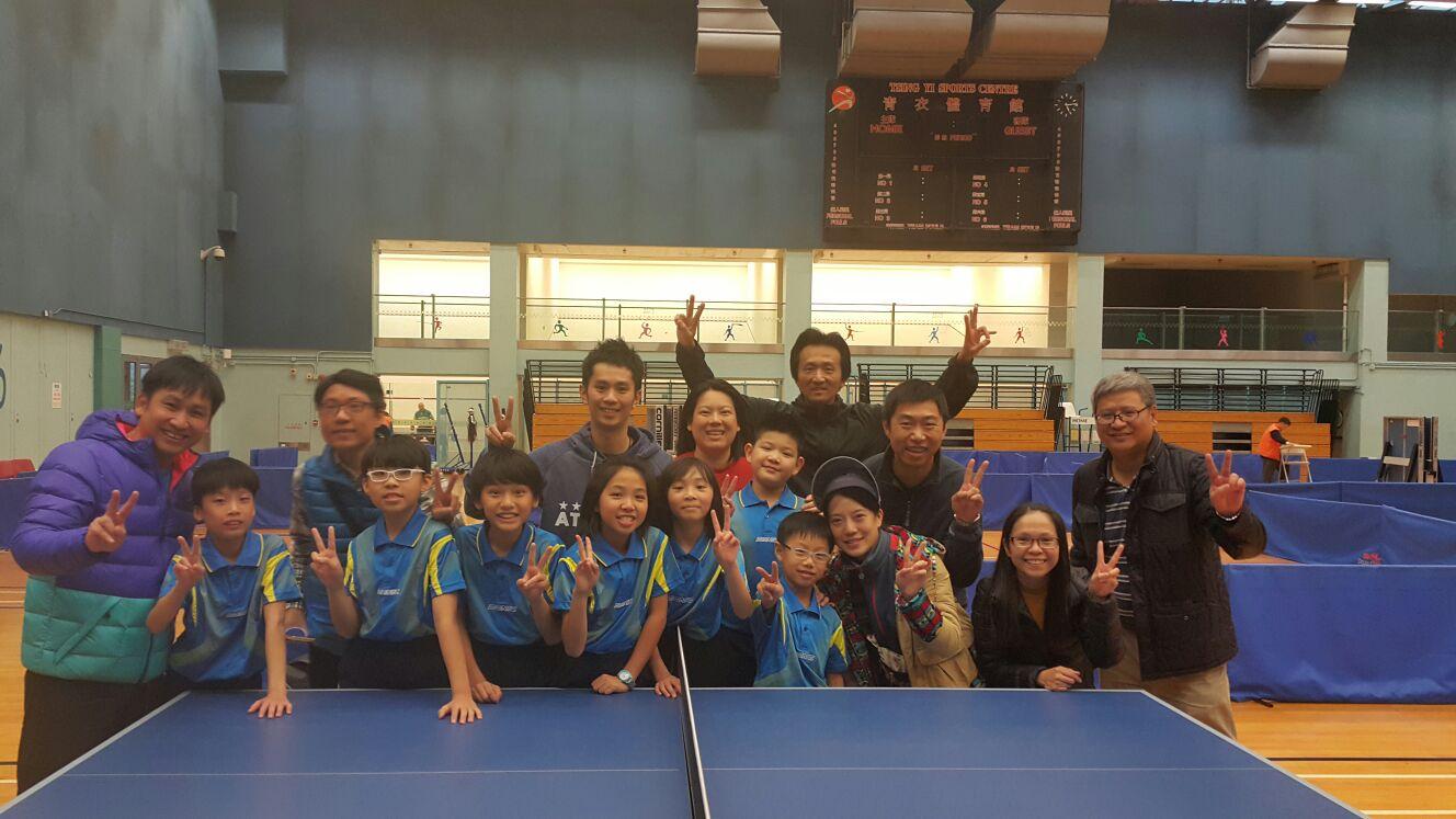 2016-2017年度青衣區小學校際乒乓球比賽佳績